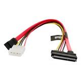 Cablu alim. HDD   SATA 3   SATA   25cm   transfer de date  rosu, 4World  08537
