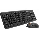 KIT tastatura + mouse optic USB, NEGRE, SPACER