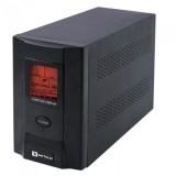 UPS Serioux, ProtectIT 1200S, 1200VA, >8min back-up (half load), 2 baterii, 2 porturi schuko, ecran LCD, negru