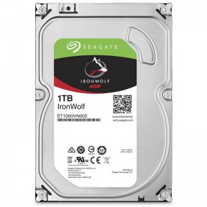 Hard disK intern 1TB, Seagate IronWolf HDD 3.5'' 1TB SATA3 5900RPM, 64MB, SUPRAVEGHERE VIDEO
