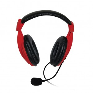 VAKOSS Stereo headset with microphone headphones Volume Control SK-601KR roșu