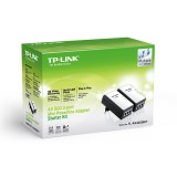 KIT 2 Mini Adaptoare POE Powerline AV500, cu 3 porturi LAN,  TP-Link TL-PA4030KIT, INTERNET PRIN RETEAUA ELECTRICA A CASEI