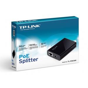 """PoE (Power Over Ethernet) Splitter, IEEE 802.3af compatibil, 5V/12V power output, carcasa plastic, plug & play, Tp-link """"TL-PoE10R"""""""