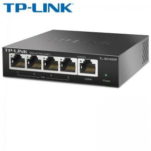 Switch TP-Link TL-SG1005P PoE 5x10/100/1000Mbps, 4x PoE, 56W , METALIC