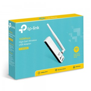 Adaptor wireless TP-Link TL-WN722N v3.0, N150 HIGH GAIN, USB2.0, antena detasabila 4dBi, Atheros, 1T1R