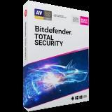Licenta retail Bitdefender Total Security 2020, noua, 3 useri, 1 an - anti-malware Windows, macOS, iOS si Android, anti- ransomware, prevenire amenintari retea, anti-furt, control parental, viteza optimizata