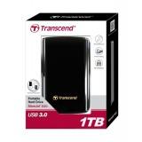 Hard disc extern Transcend 25D3 2.5'' 1TB USB3, protectie la soc, elegant