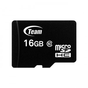 Card memorie 16GB microSD clasa 10 cu adaptor SD - Team Group memory card Micro SDHC 16 GB Class 10 +Adapter