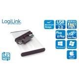 Carcasa hard disc laptop 2.5'' SATA - USB2, Aluminu, argintiu, LogiLink UA0041A