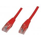 Cablu UTP cu mufe 1,5m rosu