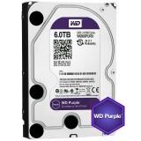 HDD 6TB WD Purple WD60PURZ,  intern 3.5'', SATA/600, 64MB cache, surveillance - pentru supraveghere video