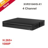 DVR XVR Pentabrid Dahua XVR5104HS-X1, 4 canale, 1080P , H265+, pana la 5MP HDCVI si 6MP pe camere IP, POS, IVS, face detection, smart search