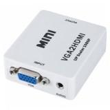 Convertor VGA LA HDMI, AUDIO SI VIDEO DIN LAPTOP IN TELEVIZOR, FULL HD 1080p