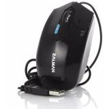 Mouse Zalman cu fir, optic, ZM-M300C, 800~2400dpi, 3 butoane, USB, viteza 4000fps, negru