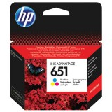 Cartus HP 651 Color, Original, Tri-colour, 300 Pagini