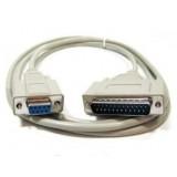 Cablu imprimanta AT serial DB9 mama - paralel DB25 tata [CABLE-120]