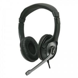 Casti cu microfon Serioux, EVO7810, Full size ,20-22000Hz, 32 ohm, cablu 1.5m, culoare neagra, Jack 3.5mm, piele+plastic, medii, volume control