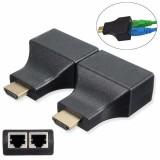 Set 2 buc Adaptor Extensie HDMI la UTP dual port RJ45 Cat 5e/6 UTP LAN Ethernet , max 30metri