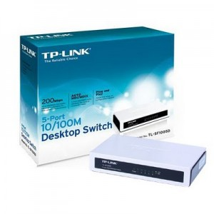 Switch 5 Port-uri 10/100, TP-LINK TL-SF1005D