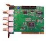 Placa captura pentru 4 camere supraveghere, se monteaza in slot PCI din computer, inregistreaza direct pe hardul pc-ului, model: SDVR-404A