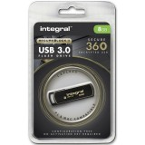 FLASH DRIVE USB 3.0 8GB SECURE 360 ENCRYPTED INTEGRAL