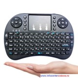 Tastatură si mouse touchpad wireless (fără fir) 2.4GHz Wifi pentru Smart TV Android Box PC, alba sau neagra
