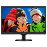 "Monitor LED Philips 18.5"", Wide, Negru, VGA"