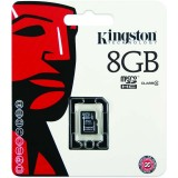 Card memorie microSDHC 8GB Kingston clasa 4, SDC4/8GBSP