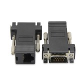 Adaptor extender VGA tata la CAT5 / CAT6 / RJ45 Ethernet mama , extindere cablu VGA prin cablu UTP pana la 20m