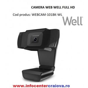 Camera Web Full HD 1920x1080 cu Microfon, CMOS, 30fps, USB2.0, Win XP Vista  7 8 10, WELL